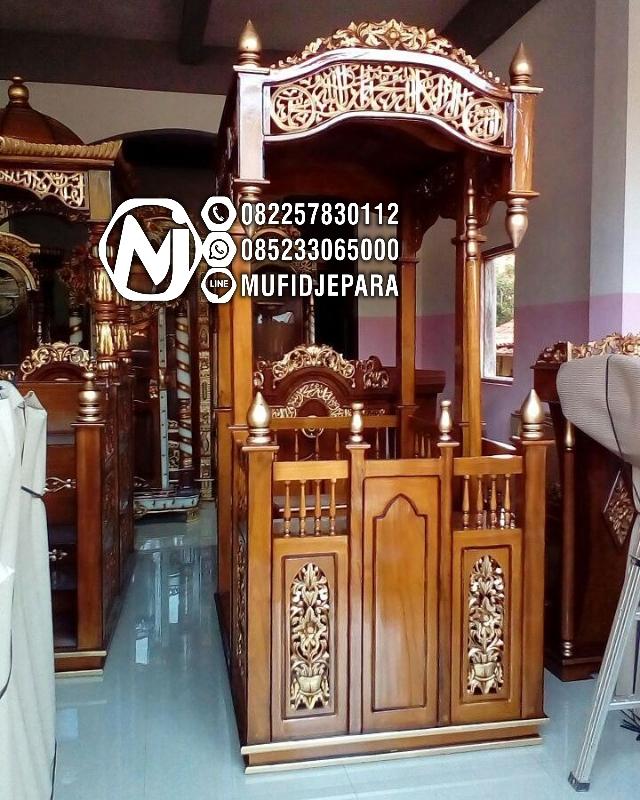Mimbar Imam Di Masjidil Ukir Jepara