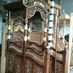 Desain Mimbar Kayu Podium Minimalis Masjid Di Jakarta