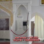 Desain Mimbar Kayu Podium Minimalis Masjid Besar
