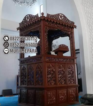 Mimbar Imam Di Masjidil Ukiran