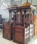 Mimbar Imam Masjid Ukiran Mewah
