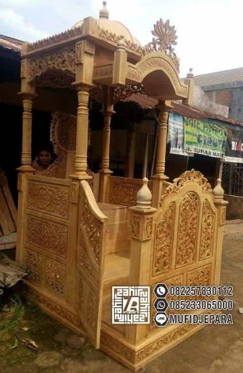 Mimbar Kayu Podium Minimalis Masjid Di Depok