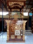 Bentuk Mimbar Jati Minimalis Masjid Di Bekasi