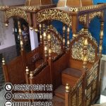 Model Mimbar Ukir-ukiran Masjid Agung