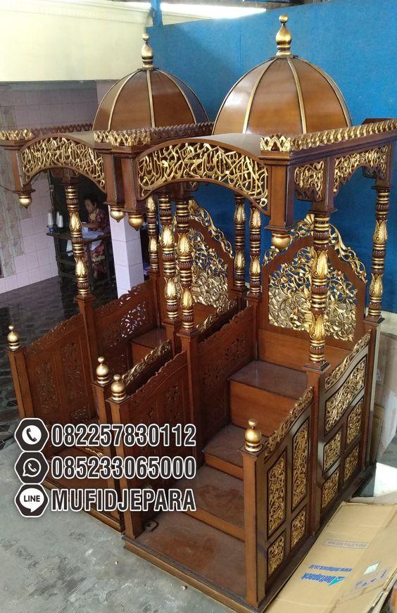 Motif Mimbar Jati Jepara Masjid Di Cirebon