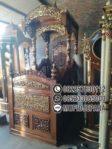 Motif Mimbar Kayu Podium Minimalis Masjid Di Bogor
