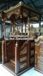 Mimbar Podium Khutbah Ukiran Kaligrafi Atap Kubah Masjid Agung Kepanjen