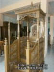 Model Mimbar Kayu Standar Masjid Di Depok
