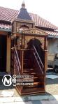 Desain Mimbar Jati Minimalis Masjid Sederhana