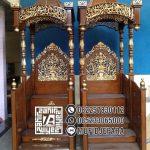Motif Mimbar Kayu Podium Minimalis Masjid Di Depok