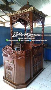 Mimbar Masjid Jati Jepara Ukiran Jepara Mimbar Masjid Jati Classic Jepara