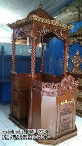 Mimbar Masjid Jati Ukiran Jepara