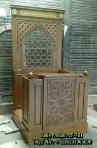 Mimbar Masjid Kayu Jati Minimalis