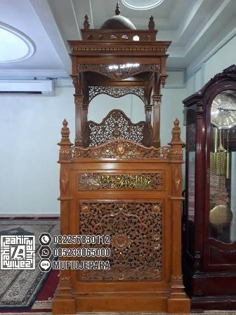 Mimbar Masjid Kayu Ukiran Mewah