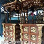 Mimbar Masjid Kubah Emas Ukiran Mewah