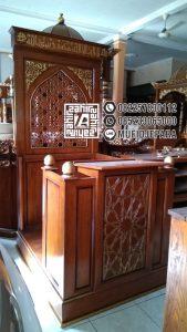 Mimbar Masjid Langgar Minimalis