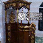 Mimbar Masjid Sederhana Ukir Jepara