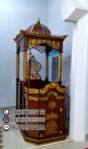 Mimbar Masjid Sederhana Ukiran Mewah