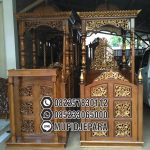Mimbar Masjid Sesuai Sunnah Ukiran Mewah