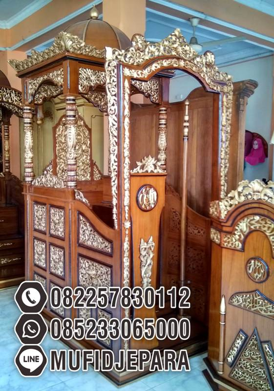 Mimbar Ukir-ukiran Masjid Di Banten