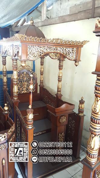 Motif Mimbar Ukiran Masjid Agung