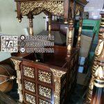 Model Mimbar Ukir-ukiran Masjid Di Brebes
