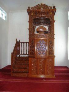 Mimbar Of Masjid Ukiran Jepara