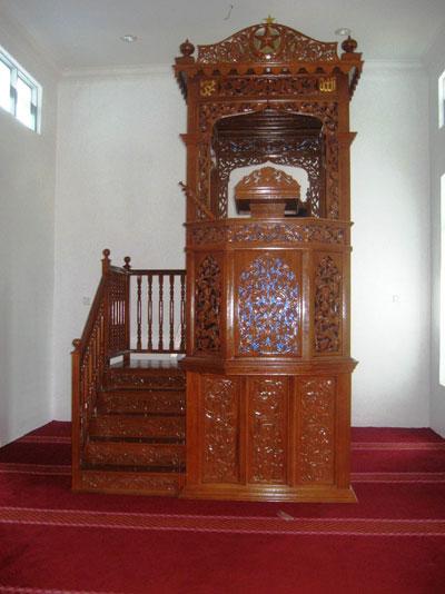 Model Mimbar Kayu Podium Minimalis Masjid Di Bogor