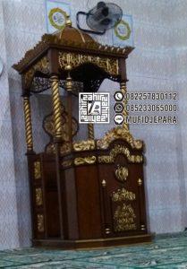 Mimbar Of Mosque Ukiran Podium Mimbar Ukir Tiang Ulir