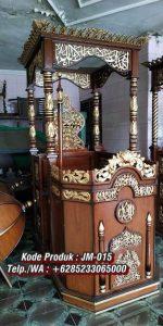 Mimbar Podium Ukir Jepara Podium Masjid Khotib Khotbah