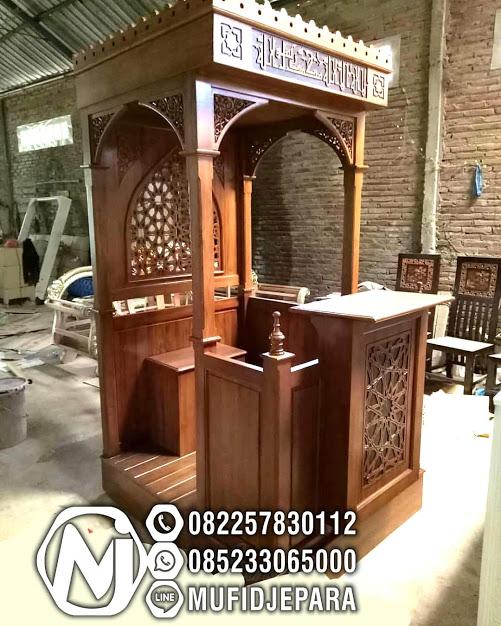Mimbar Khutbah Jumat Jual Mimbar Masjid di Jakarta Surabaya Bandung Makasar