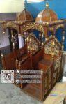 Mimbar Masjid Ready Stock Mimbar Jati Model Tangga Ukiran Jepara
