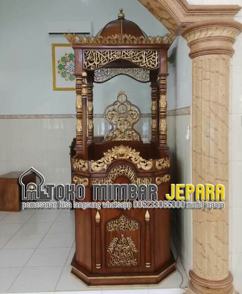 Mimbar Untuk Masjid Ukiran Jepara