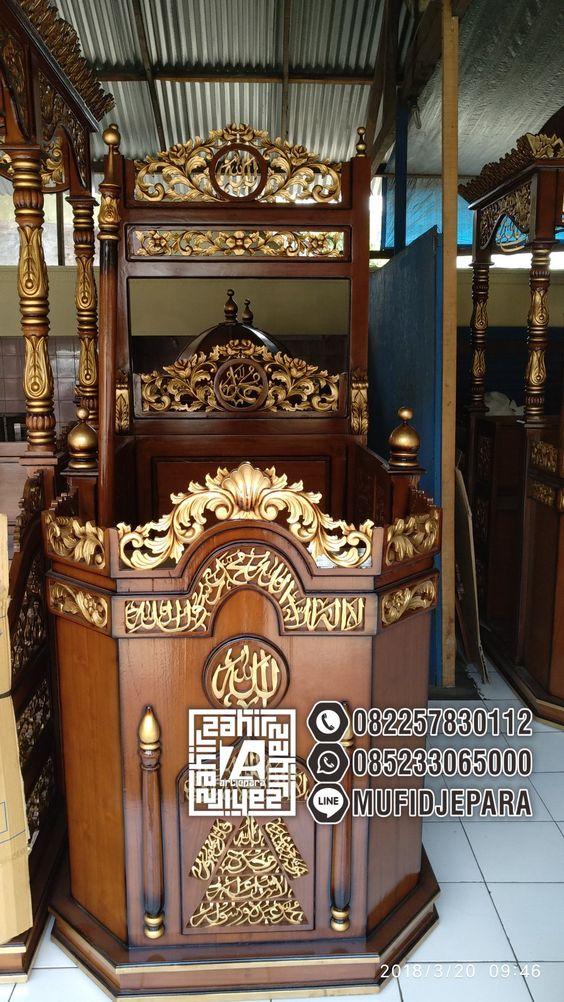 Mimbar Untuk Masjid Ukiran Mewah