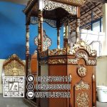 Podium Mimbar Masjid Ukiran Kaligrafi Atap Kubah Masjid Agung Jombang