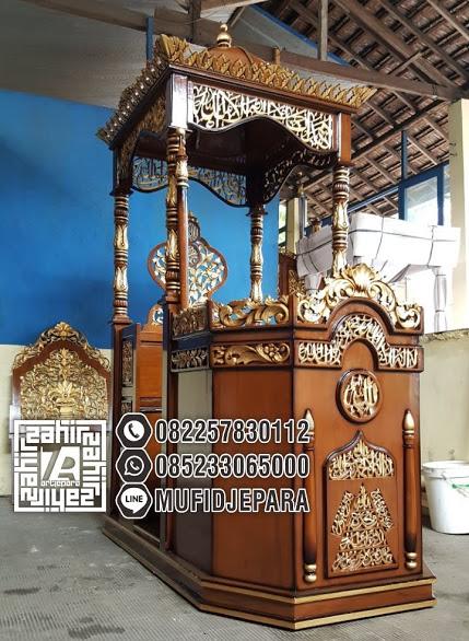 Harga Podium Mimbar Ukiran Jepara Klasik Masjid Agung