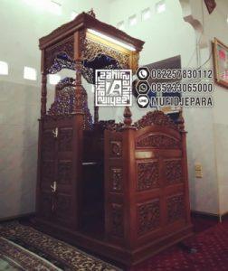 Mimbar Masjid Kayu Jati Unik