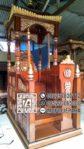Mimbar Masjid Atap Kubah Ukiran Jati Jepara