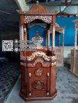 Mimbar Jati Ukir Kaligrafi Furniture Jepara