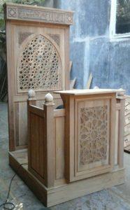 Mimbar Masjid Minimalis Arabic Furnitur Jepara