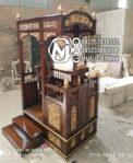 Mimbar Jati Kaligrafi Arabic Furniture Jepara