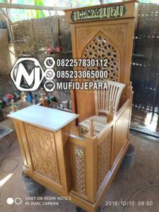 Mimbar Kayu Minimalis Furniture Jepara