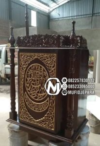 Model Podium Mimbar Ukiran Mewah Furniture Jepara