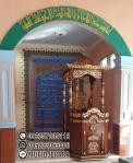 Motif Mimbar Kayu Podium Minimalis Masjid Di Cirebon