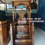 Mimbar Kayu Sesuai Sunnah Pesanan Masjid Purwodadi