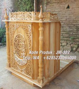 Podium Mimbar Sederhana Pesanan DKM Masjid Agung Demak