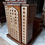 Podium Mimbar Minimalis Arabic Pesanan Masjid Agung Depok