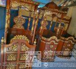 Mimbar Jati Classic Mewah Pesanan DKM Masjid Pasuruan