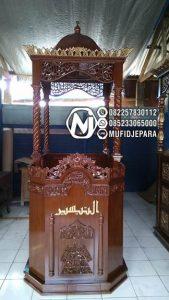 Mimbar Jati Minimalis Pesanan DKM Masjid Agung Ungaran