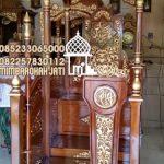 Mimbar Jati Ukir Klasik Jepara Pesanan DKM Masjid Kepanjen